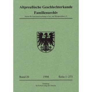 APG-Familienarchiv, Band 20 (1998)