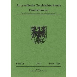 APG-Familienarchiv, Band 26 (2004)