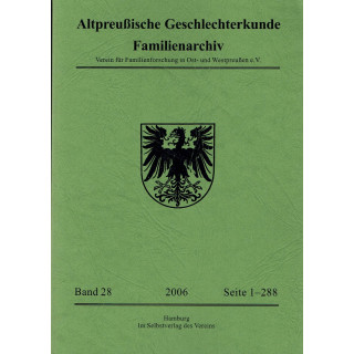 APG-Familienarchiv, Band 28 (2006) (Buch)