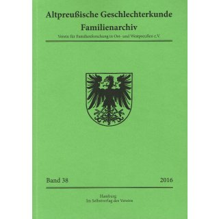 APG-Familienarchiv, Band 38 (2016) (Buch)
