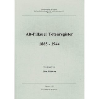 Alt-Pillauer Totenregister 1885 - 1944.