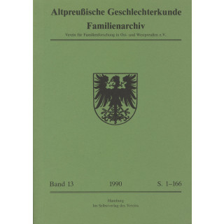 APG-Familienarchiv, Band 13 (1990) (Buch)