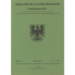 APG-Familienarchiv, Band 11 (1986/87)